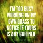 Oh, Is Your Grass Green? [Friday's Letters 1.22.16]